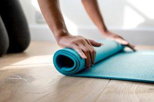 pilates using mat